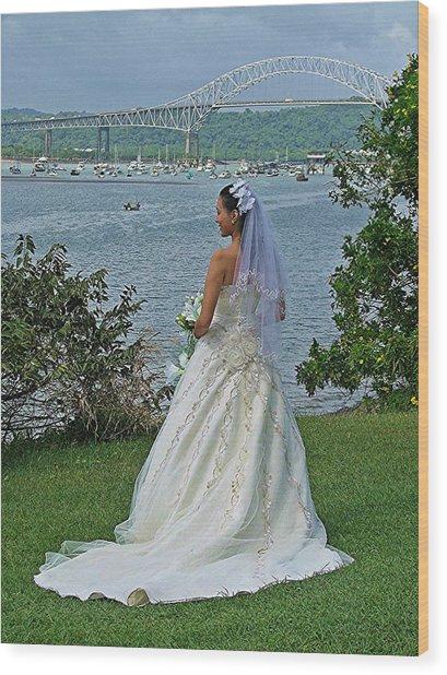 Bride And Bridge Wood Print