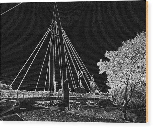 Bridge Electrified Wood Print by David Alvarez