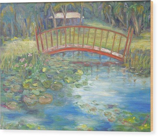 Bridge In Vero Beach Wood Print