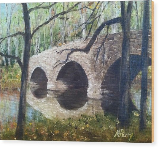 Bridge Over The Perkiomen Wood Print