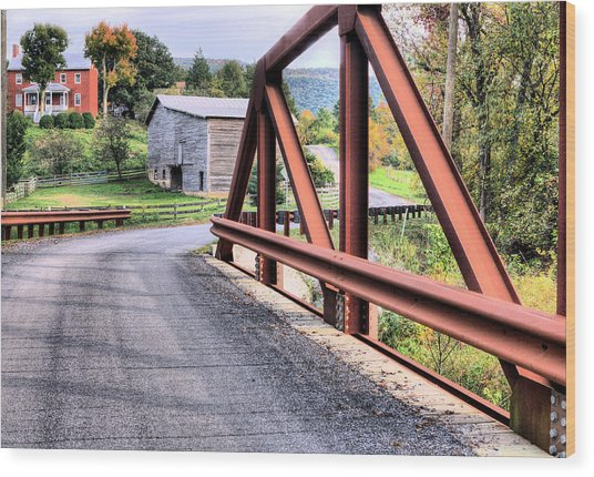 Bridge To A Simpler Time Wood Print by JC Findley
