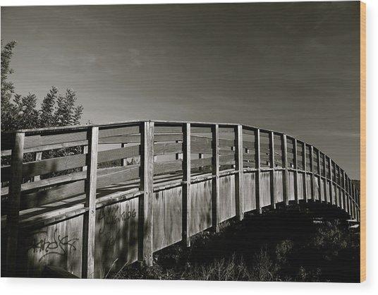Bridge To The Falls Wood Print by Jez C Self