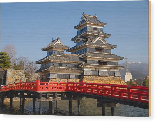 Bridge To The Matsumoro Castle Wood Print