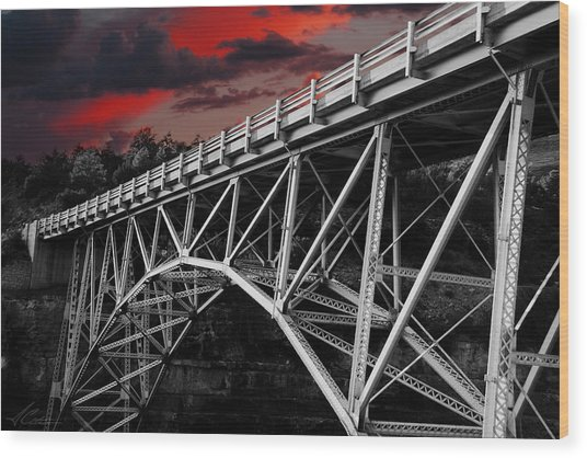 Bridge Under Blood Red Skies Photograph By Anthony Citro