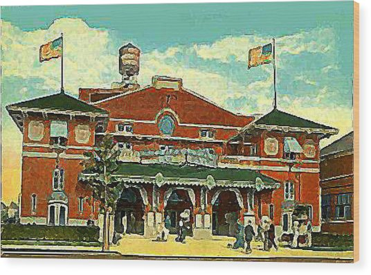 Brighton Beach Theatre At Coney Island In 1910 Wood Print by Dwight Goss