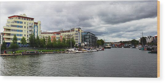 Bristol Panoramic Photograph Wood Print