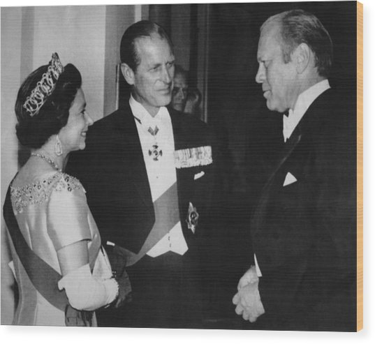 British Royalty. From Left  Queen Wood Print by Everett