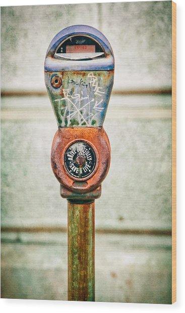 Broken Meter Wood Print by Stacey Granger