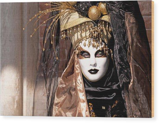 Bronce Mask Wood Print by Karin Haas