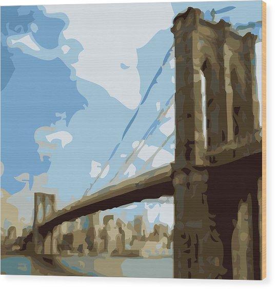 Brooklyn Bridge Color 16 Wood Print
