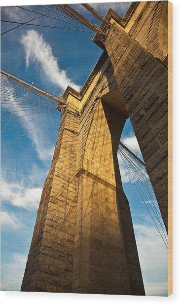 Brooklyn Bridge End Of The Day Wood Print by Patrick  Flynn