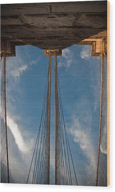 Brooklyn Bridge Perspective Wood Print by Patrick  Flynn