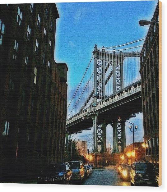 #brooklyn #ny #newyork #newyorker Wood Print