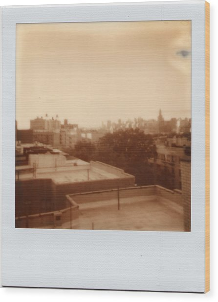 Brooklyn With Ip Px100 Film Wood Print