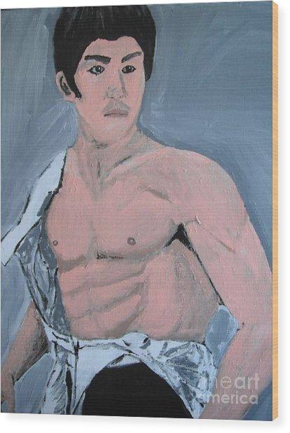 Bruce Lee Wood Print by Jeannie Atwater Jordan Allen