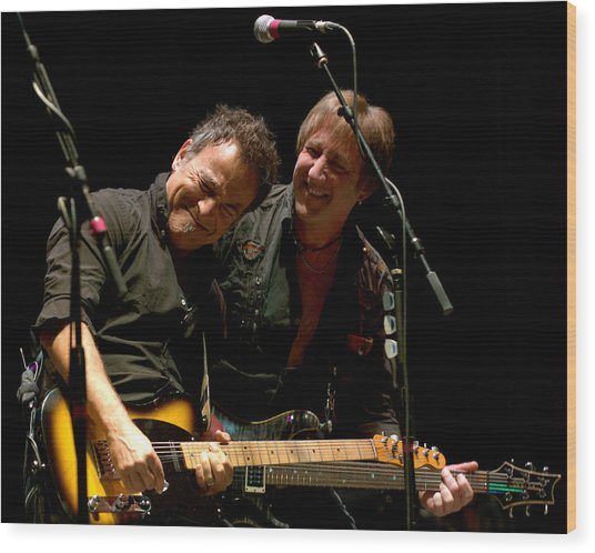 Bruce Springsteen And Danny Gochnour Wood Print