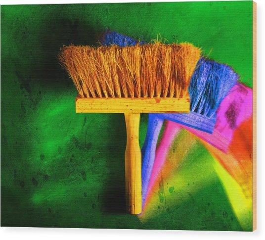 Brush Wood Print