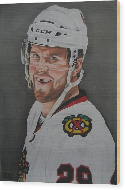 Bryan Bickell Wood Print by Brian Schuster