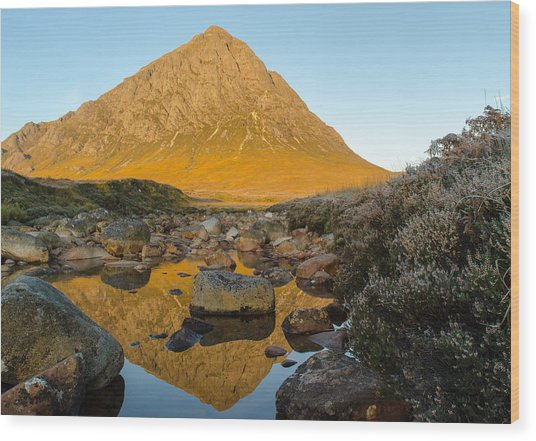 Buachaille Etive Mor At Sunrise Wood Print by Ben Spencer