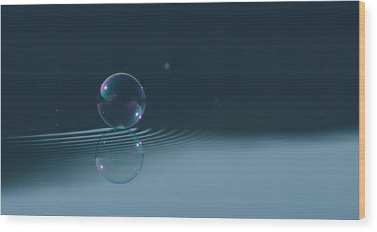 Bubble Ripples Wood Print