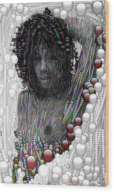 Bubble Woman Wood Print by Bogdan Floridana Oana