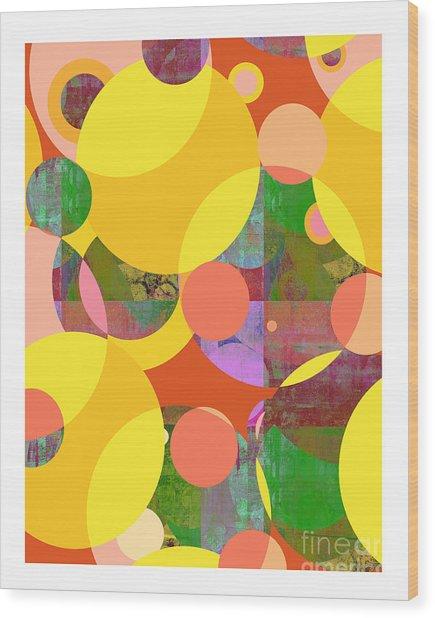 Bubblicious Iv Wood Print by Ricki Mountain
