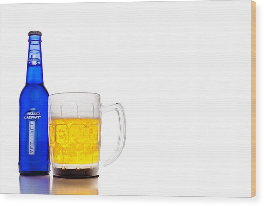 Bud Light Platinum Wood Print