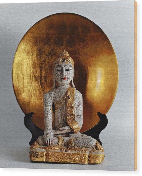 Buddha Girl Wood Print