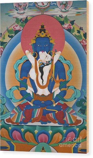 Buddha In Yabyum - Nepal Wood Print