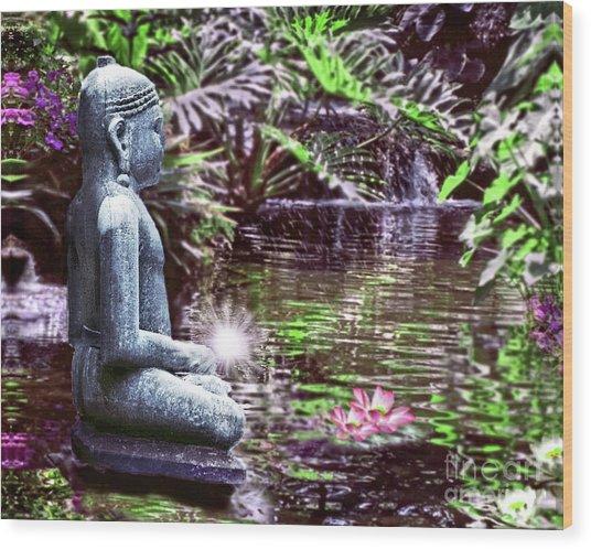 Buddha's Garden Wood Print