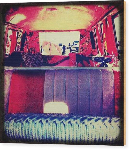 #bugorama #vw #bus #interior Wood Print