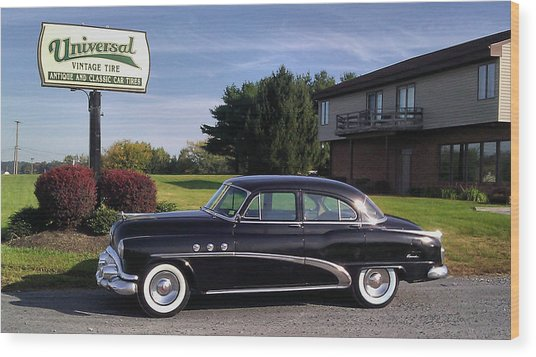 Buick Eight 1952 Wood Print by Elizabeth Coats