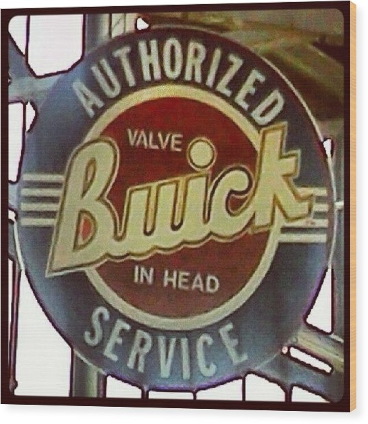 Buick Sign Wood Print