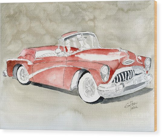 Buick Skylark 1953 Wood Print