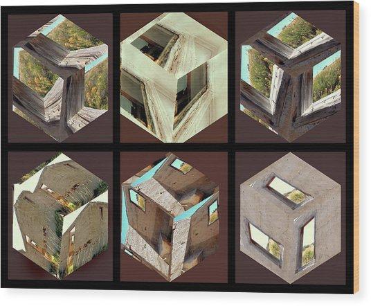 Building Blocks Wood Print by Irma BACKELANT GALLERIES