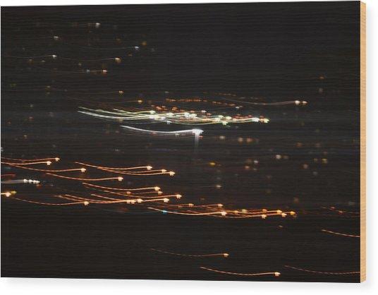 Building Lights Wood Print by Naomi Berhane