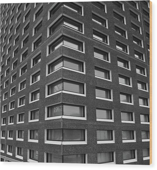 city building windows. Building Windows Wood Print By  Photograph