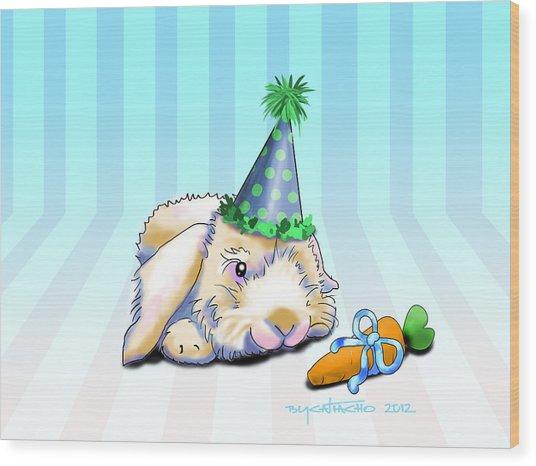 Bunny Present Wood Print