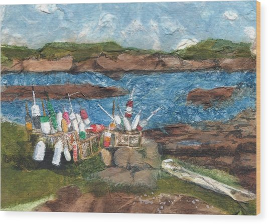 Buoy Collection Wood Print