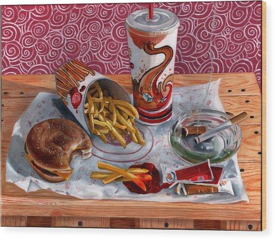 Burger King Value Meal No. 3 Wood Print