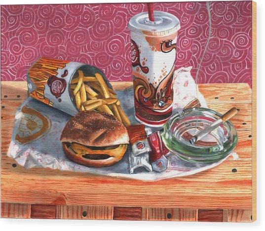 Burger King Value Meal No. 4 Wood Print by Thomas Weeks