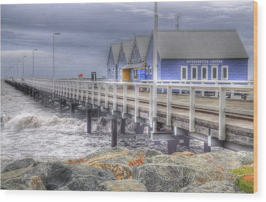 Busselton Jetty Wood Print