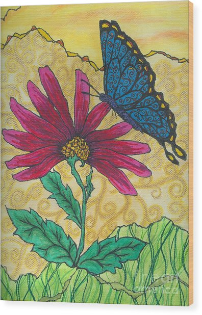 Butterfly Explorations Wood Print
