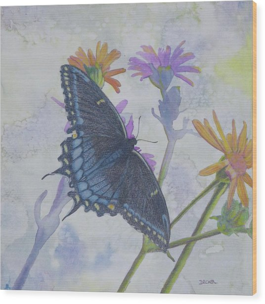 Butterly Wood Print