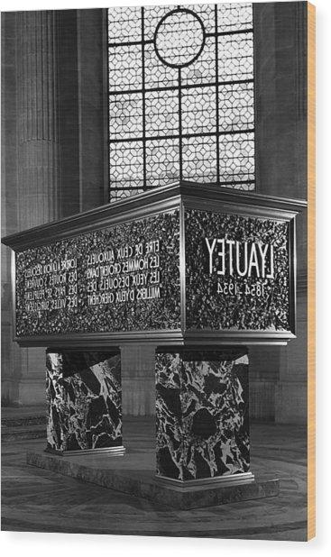 Bw France Paris Marshal's Lyautey Tomb 1970s Wood Print by Issame Saidi