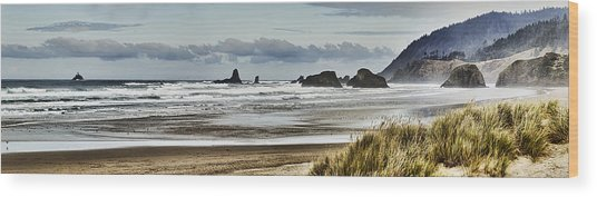 By The Sea - Seaside Oregon State  Wood Print