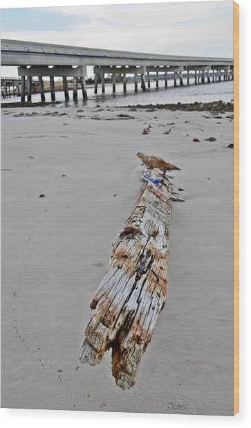 By The Sea Wood Print by Brenda Becker