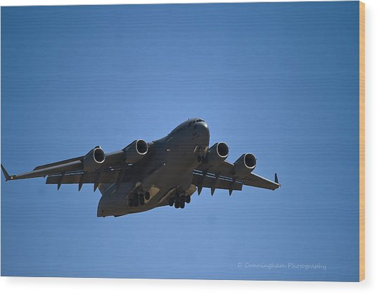 C-17 In Flight Wood Print