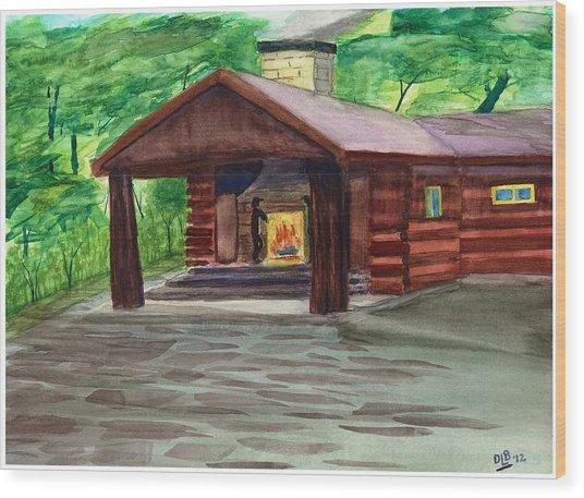 Caddy Camp Wood Print