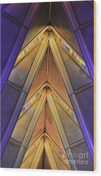 Cadet Chapel Detail Af Academy Wood Print